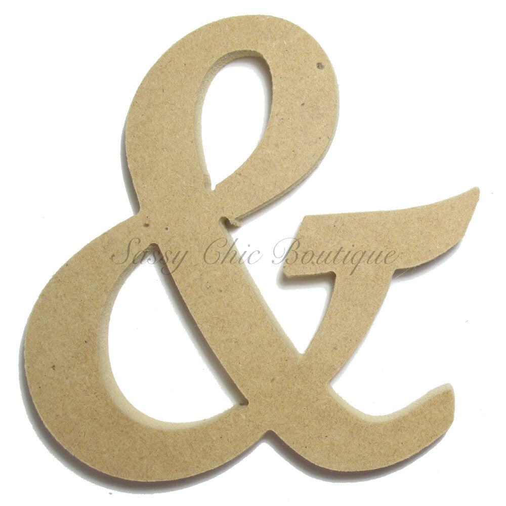"DIY-Unfinished Wooden Symbol -  ""&"" Ampersand Symbol - Lucida Calligraphy Font-Sassy Chic Boutique"