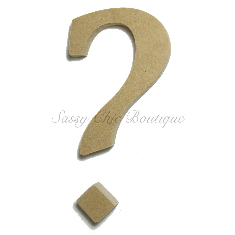 "DIY-Unfinished Wooden Symbol -  ""?"" Question Mark - Lucida Calligraphy Font-Sassy Chic Boutique"