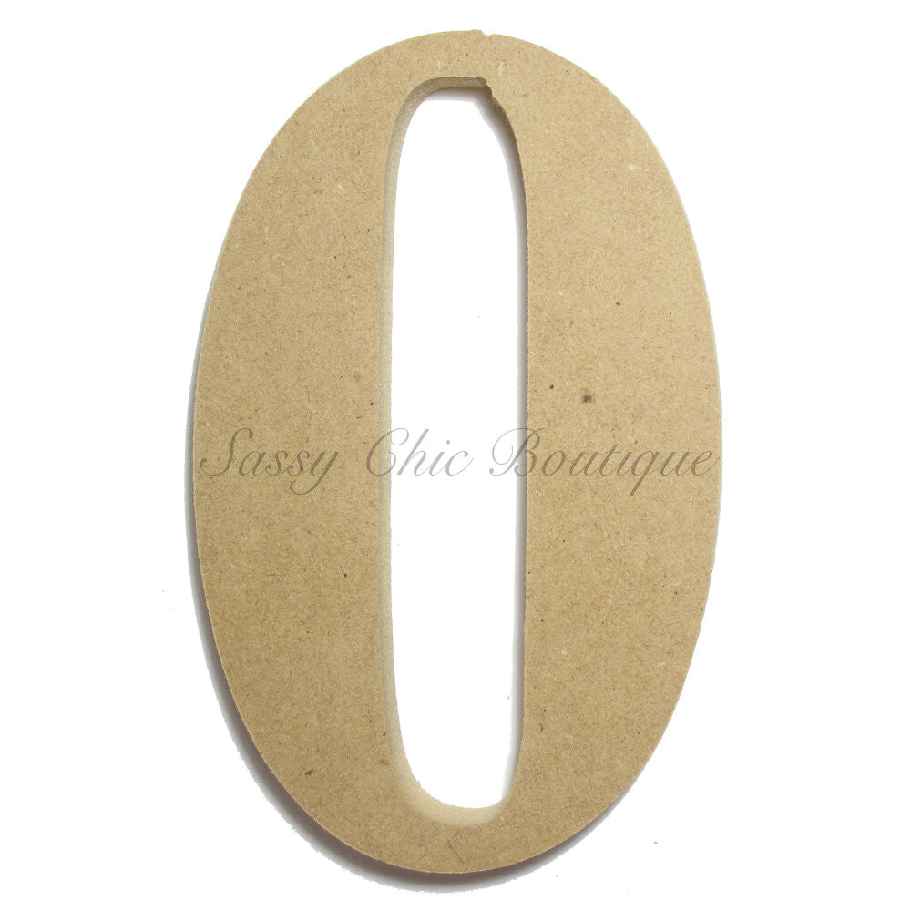 "DIY-Unfinished Wooden Number ""0"" - Times Font-Sassy Chic Boutique"