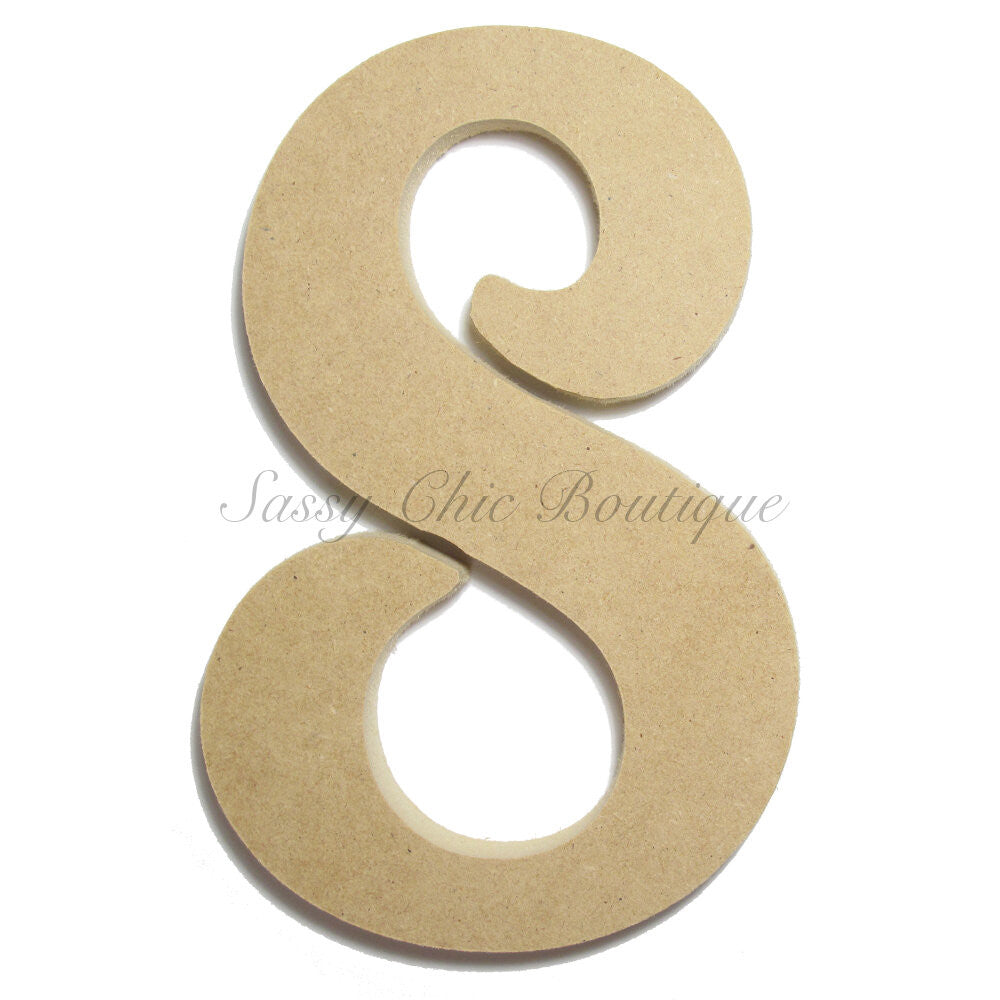 "DIY-Unfinished Wooden Number ""8"" - Victorian Font-Sassy Chic Boutique"