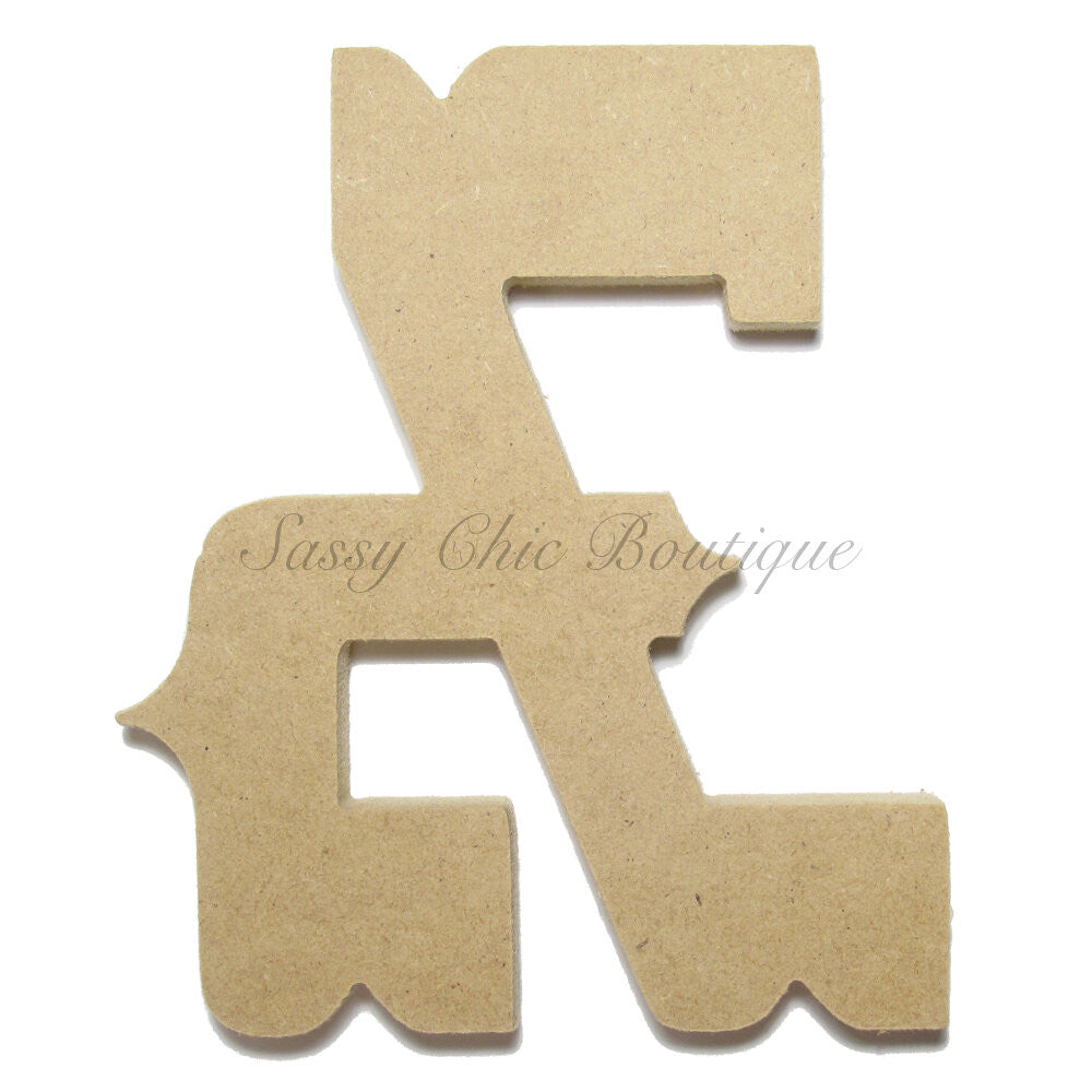 "DIY-Unfinished Wooden Symbol -  ""&"" Ampersand Symbol - Western Font-Sassy Chic Boutique"
