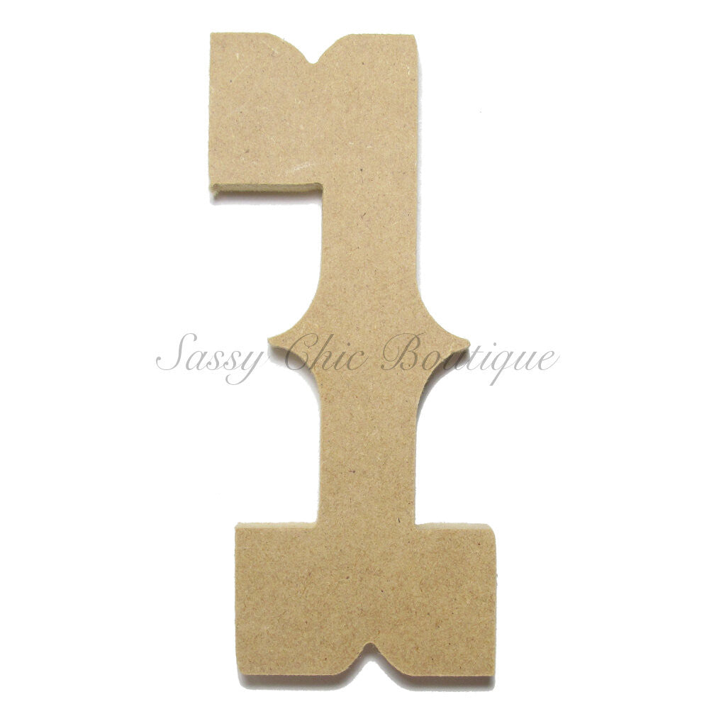 "DIY-Unfinished Wooden Number ""1"" - Western Font-Sassy Chic Boutique"