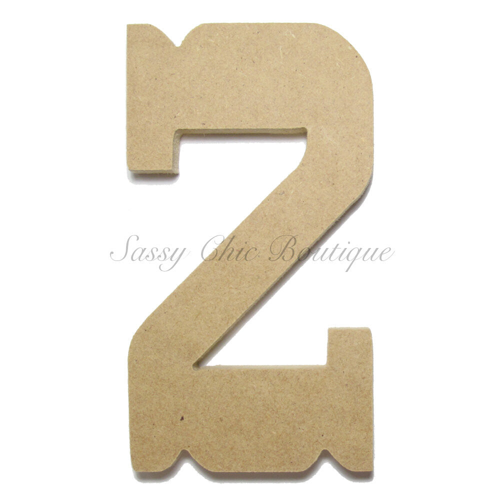 "DIY-Unfinished Wooden Number ""2"" - Western Font-Sassy Chic Boutique"