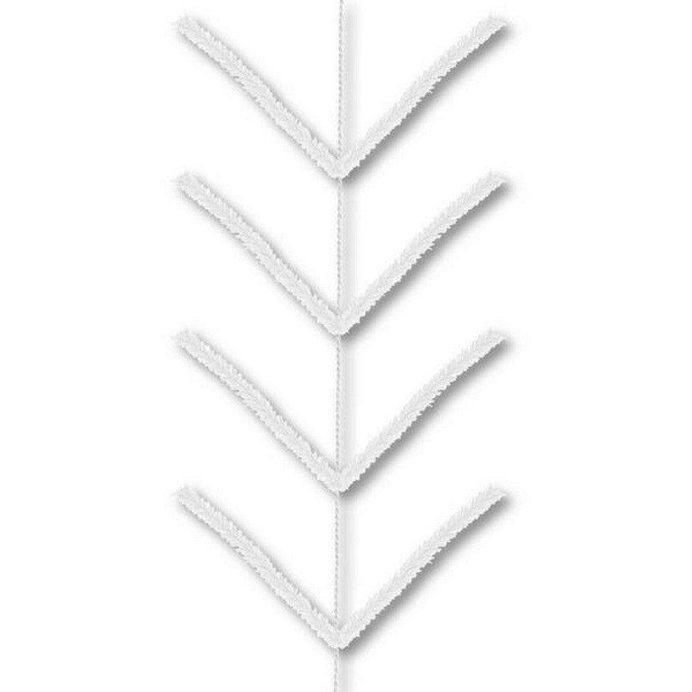 Wreath Supplies-9' White Pencil Work Garland - (XX752427)-Sassy Chic Boutique