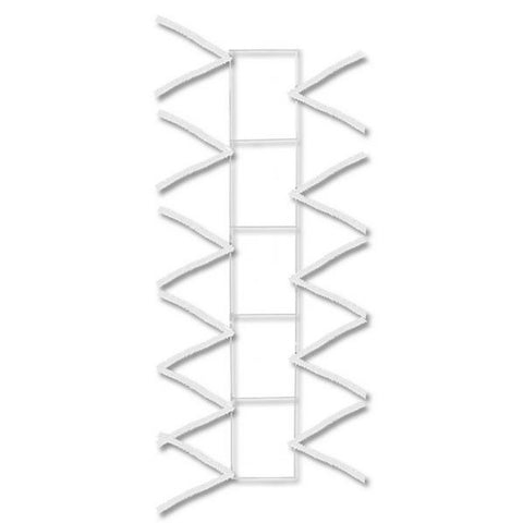 "22"" White Pencil Work Rail - 22"" x 4"" Deco Mesh - (XX759827)"