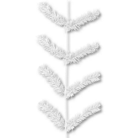 9' White Deco Poly Mesh Work Garland - (XX752027)