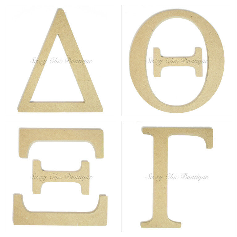 Wooden Letters-Custom Painted Wooden Greek Letters-Sassy Chic Boutique - 1