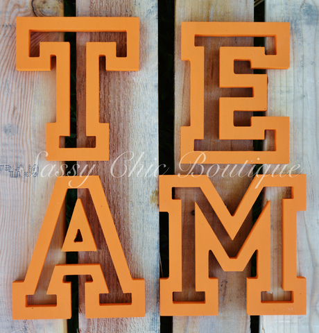 Custom Painted Wooden Letters - All Star Font