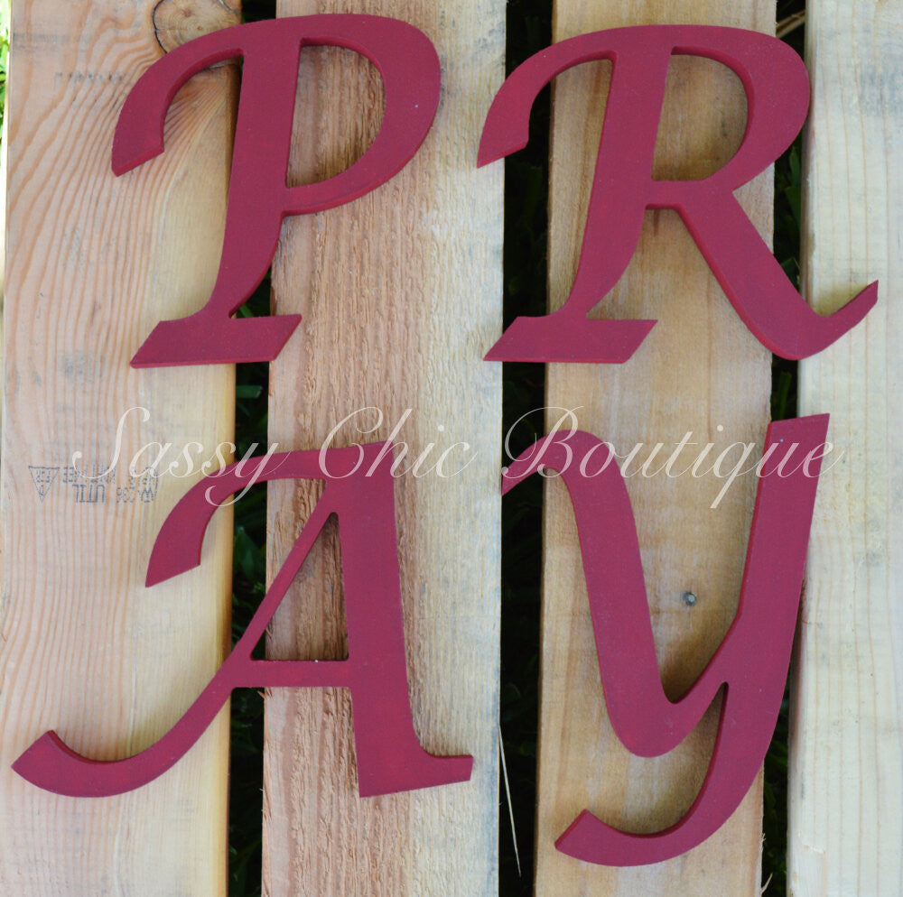 Wooden Letters-Custom Painted Wooden Letters - Lucida Calligraphy Font-Sassy Chic Boutique