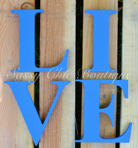 Custom Painted Wooden Letters - Times Font