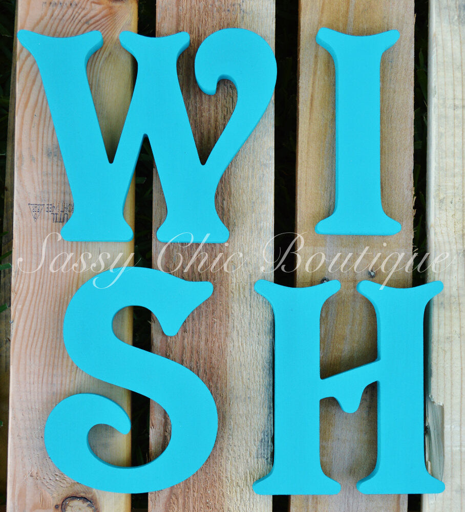 Wooden Numbers and Shapes-Custom Painted Wooden Numbers and Symbols - Victorian Font-Sassy Chic Boutique