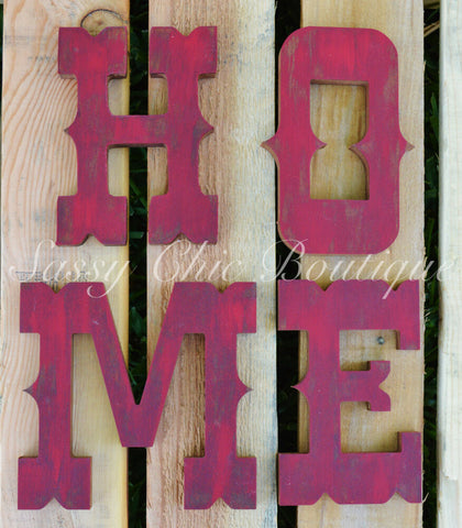 Custom Distressed Wooden Letters - Western Font