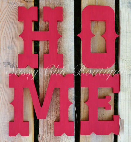 Custom Painted Wooden Letters - Western Font