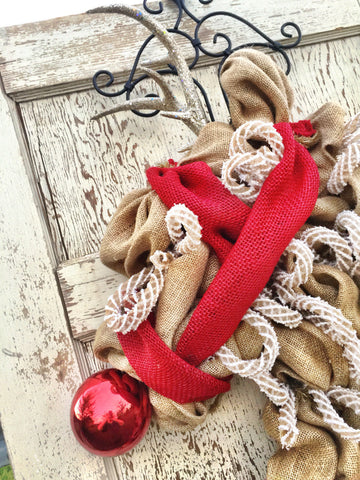 Wreaths and Door Decor-The Elegant Reindeer Burlap Christmas Wreath **FREE SHIPPING**-Sassy Chic Boutique - 4