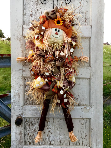 Fall Scarecrow Door Piece **Price includes shipping**