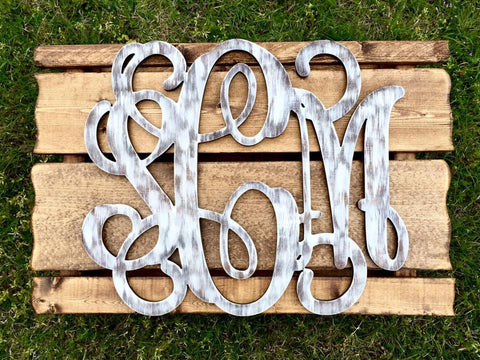 Wooden Monograms-Custom Triple Wooden Monogram Pallet-Sassy Chic Boutique - 4