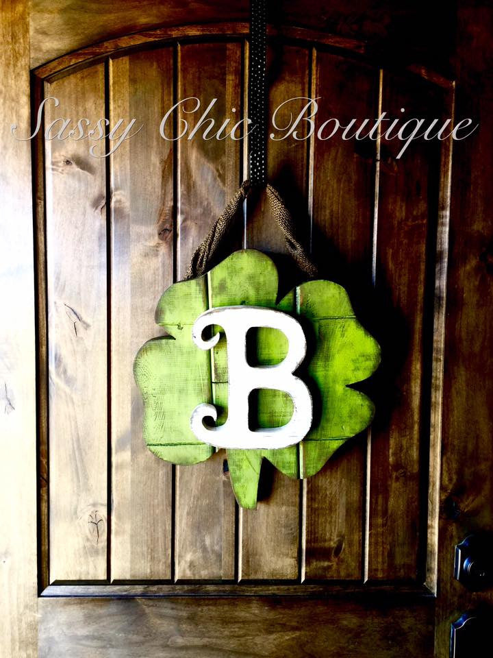 -Shamrock Door Hanger-Sassy Chic Boutique