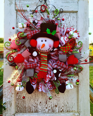 Baby It's Cold Outside Christmas Snowman Wreath **Price Includes Shipping**