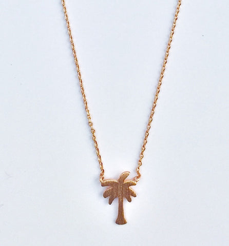 Solid Palm Tree Necklace