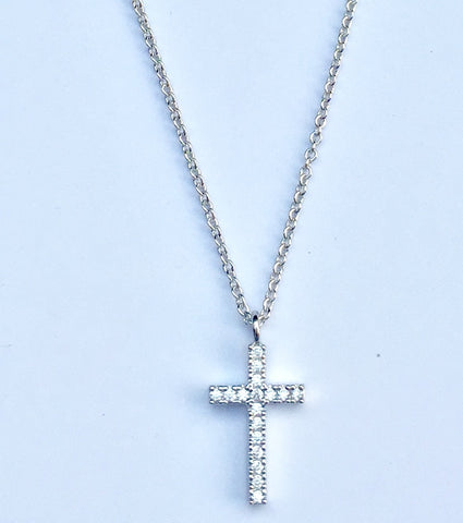 Cross Jewel Pendant Necklace