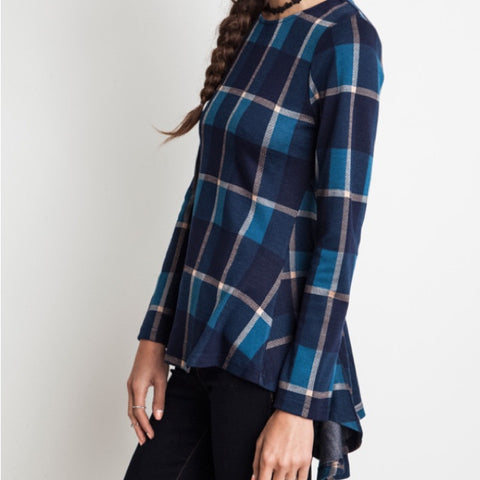 Plaid Fit and Flare Top