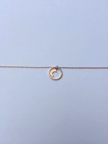 Rose Gold Plated Moon Necklace