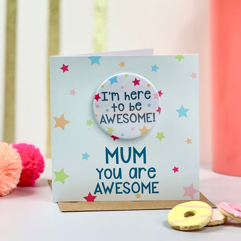 Mother's Day Bunting Flamingo Card