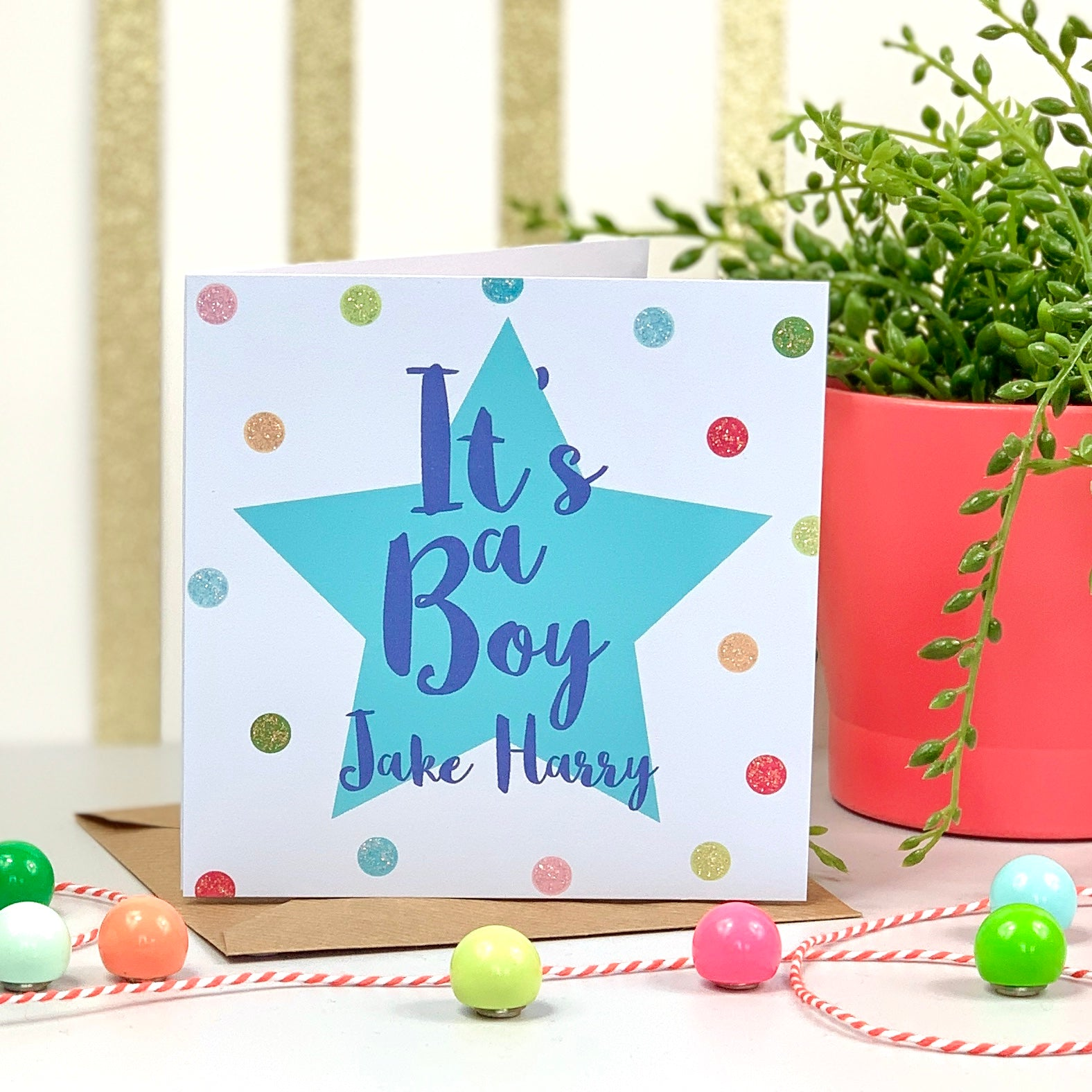 It's A Boy New Baby Spot Card