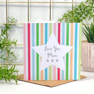 Mother's Day Star Glitter Card