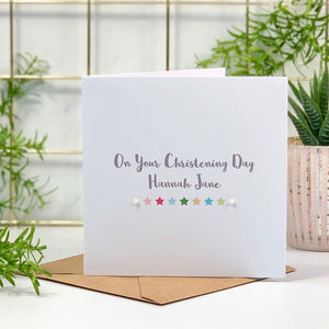 Christening Day Star Card