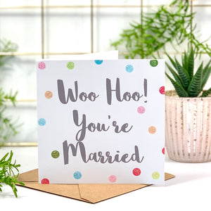 You're Married Wedding Spots Card