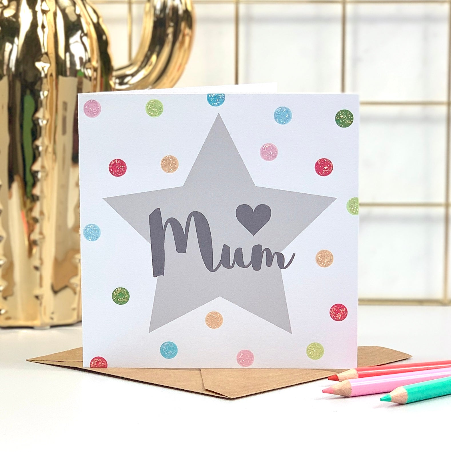 Mother's Day Glitter Spots Card