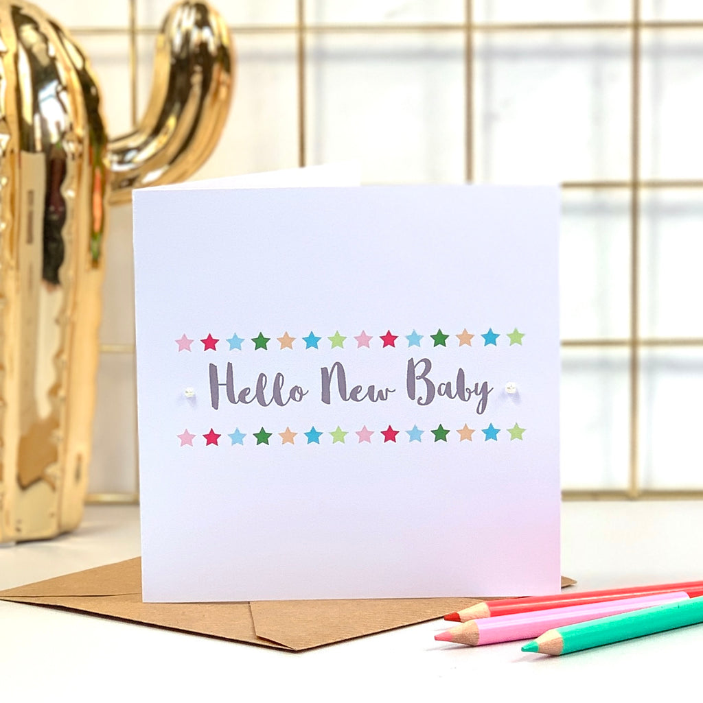 Hello New Baby Star Card