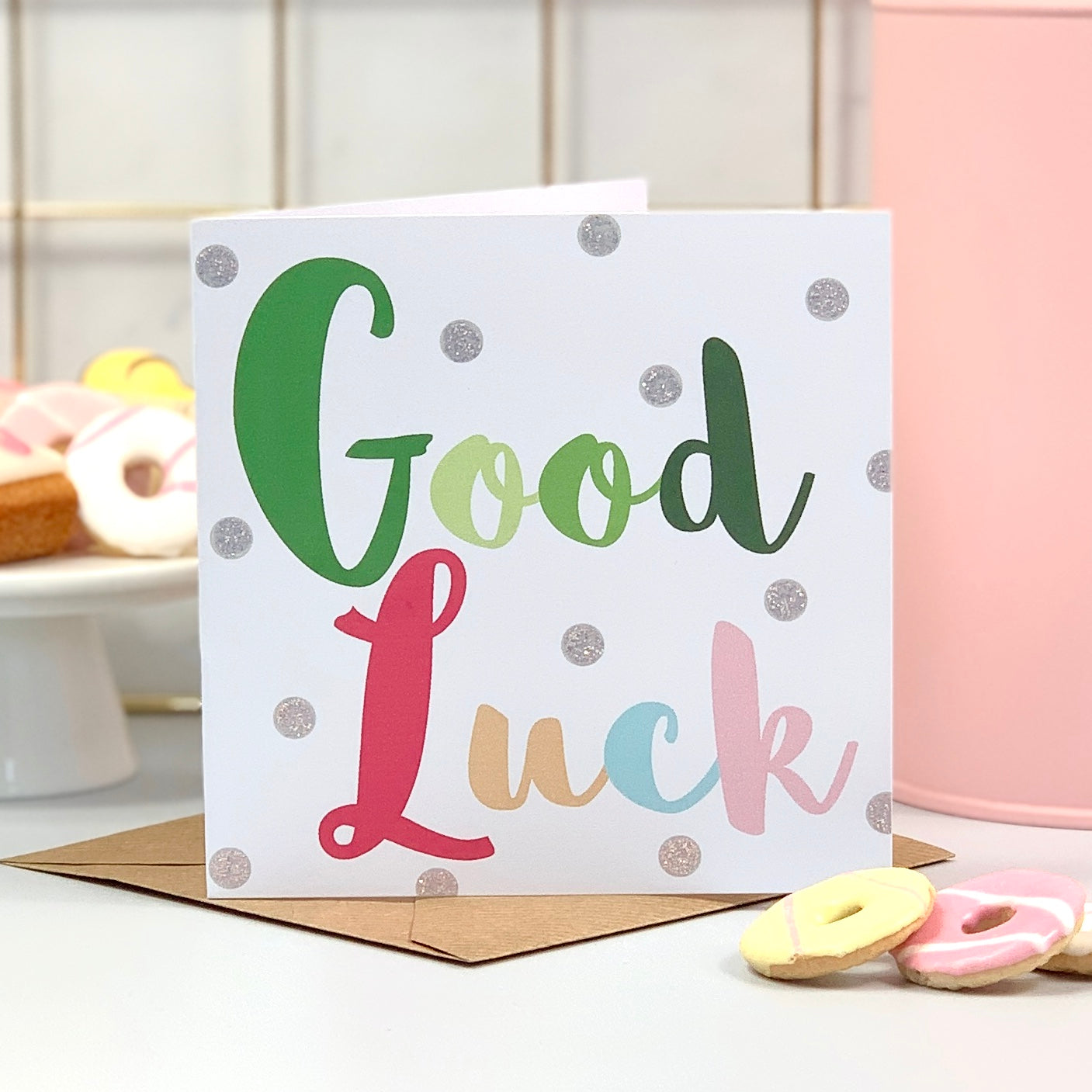 Good Luck Glitter Card