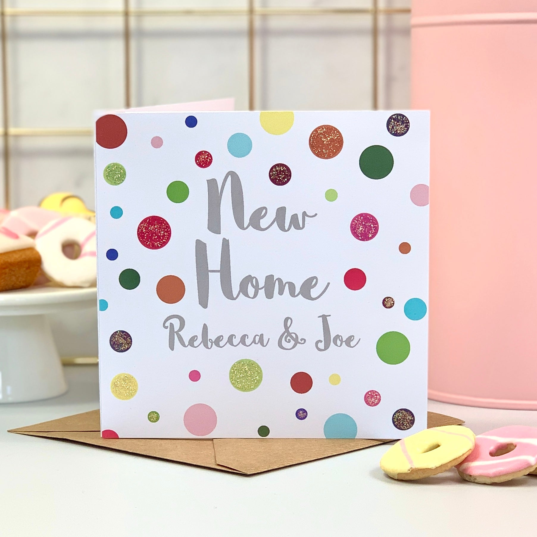 New Home Spot Glitter Card