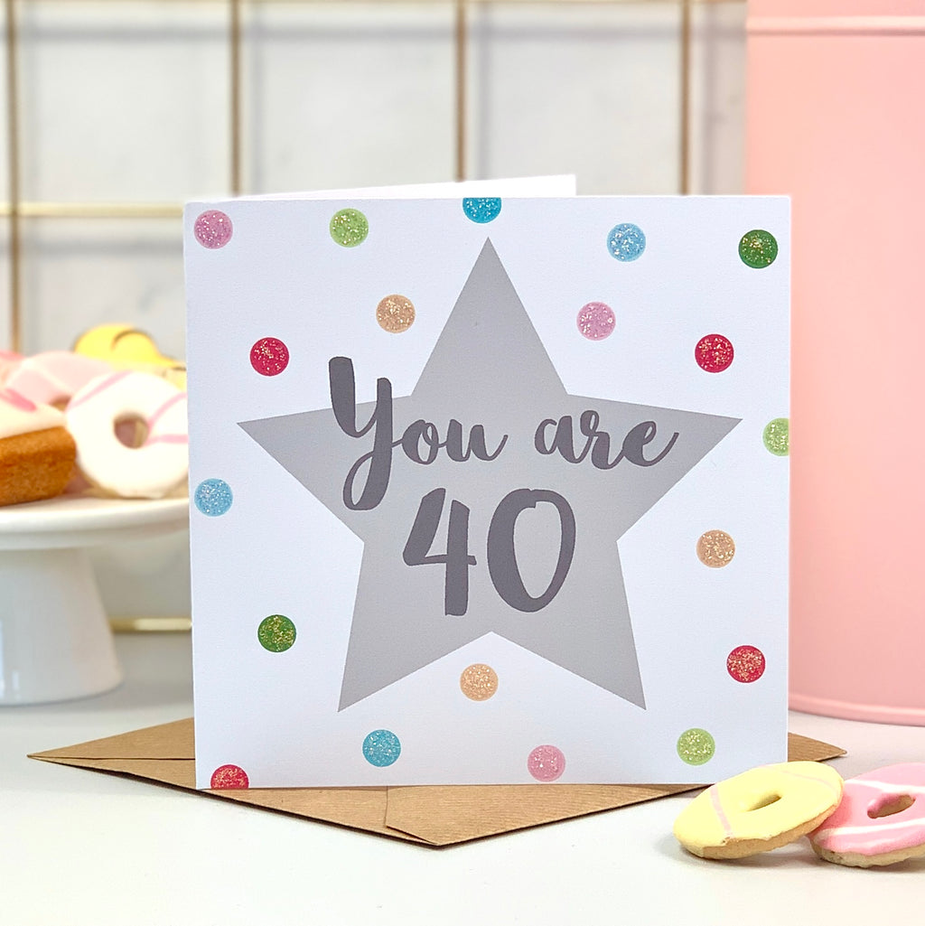 You Are 40 Birthday Card