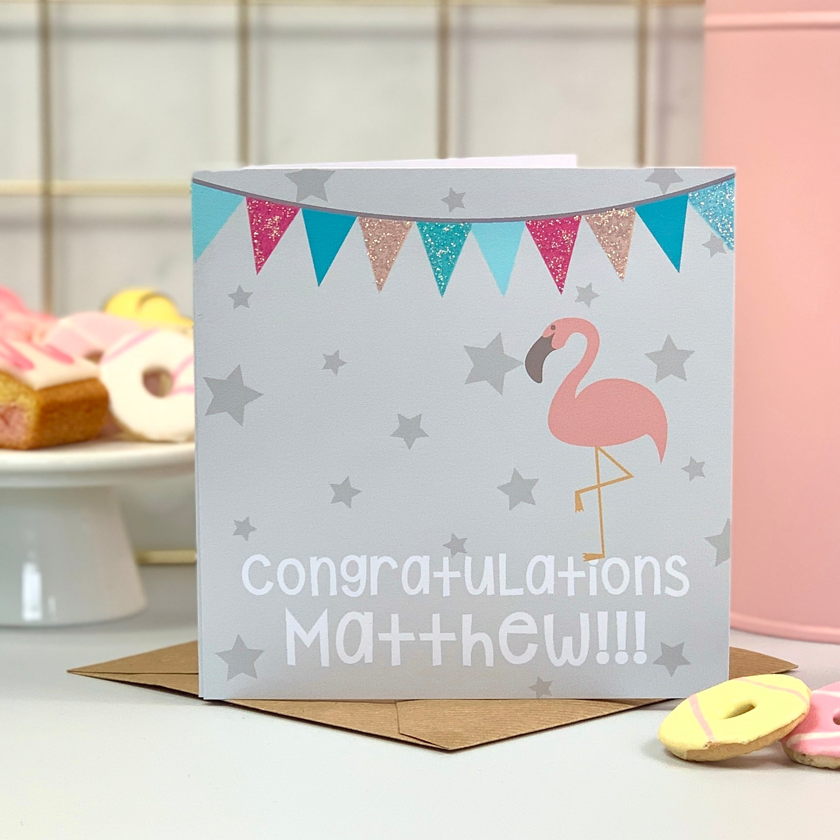 Congratulations Flamingo Card