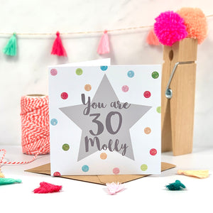 You Are 30 Birthday Card