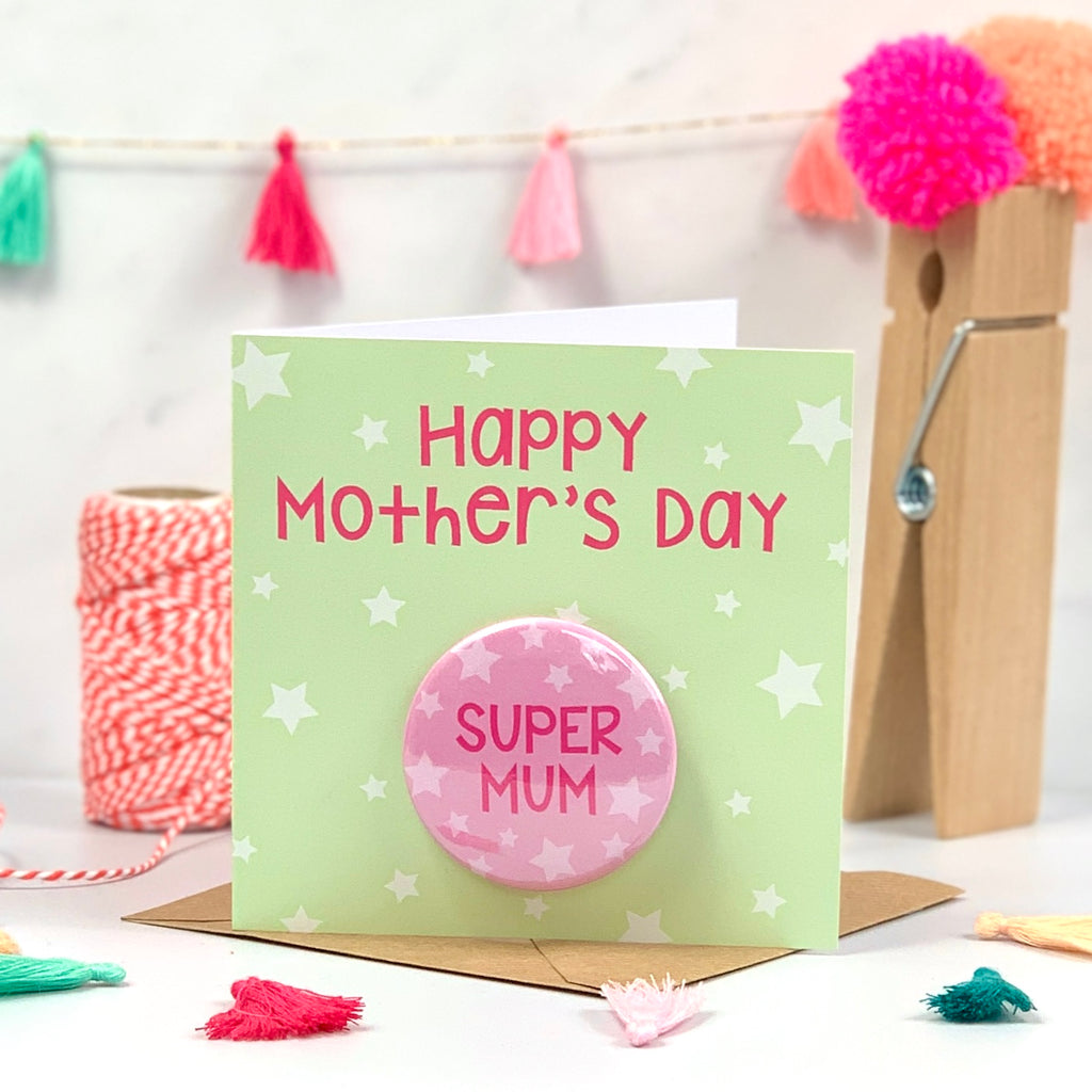 Super Mum Happy Mother's Day Card