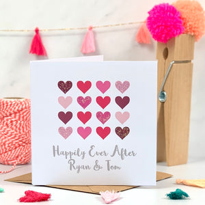 Happily Ever After Wedding Glitter Card