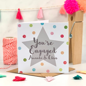 You're Engaged Glitter Spot Card