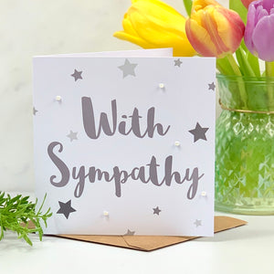 With Sympathy Stars Card
