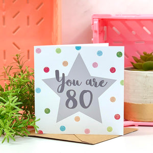You Are 80 Birthday Card