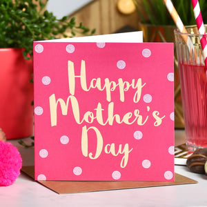 Mother's Day Pink and Peach Spot Card