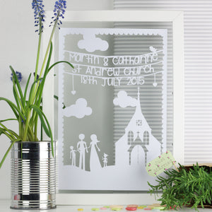 Wedding Church Personalised Cut Out Frame