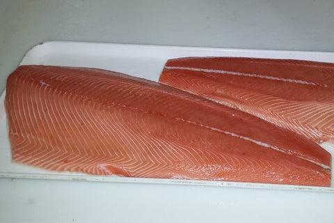 Salmon: Wild Columbia River King Salmon Fillet 10 pounds for $19.99 per pound*