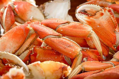"Crab: Frozen Wild Dungeness Crab Legs ""Snap & Eat"" 10lb Case: $22.99/lb*"