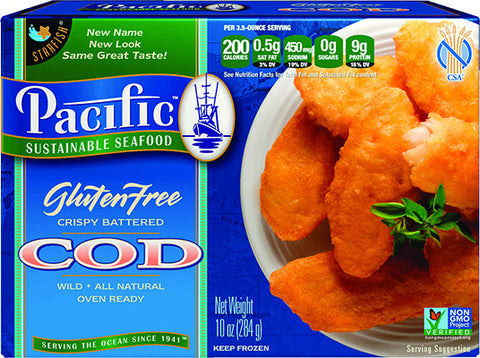 GLUTEN FREE Battered Cod: 12 Packages : $8.72 each*