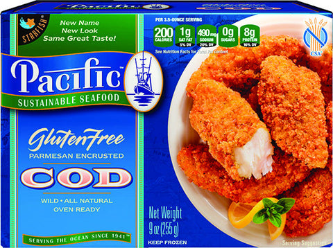 GLUTEN FREE Parmesan Encrusted Cod: 12 Packages $9.34 each*