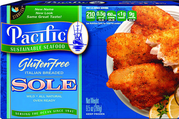 GLUTEN FREE Italian Battered Sole: 12 Packages $8.32 each*